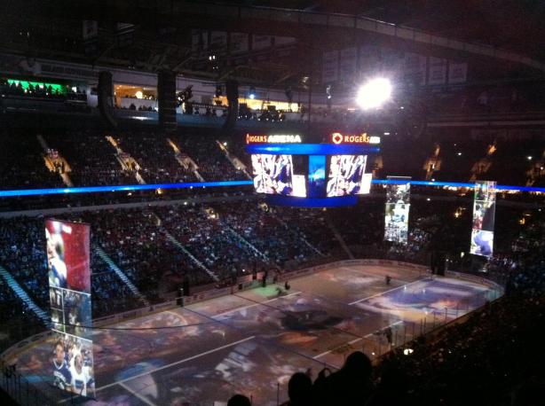 The energy in Rogers Arena