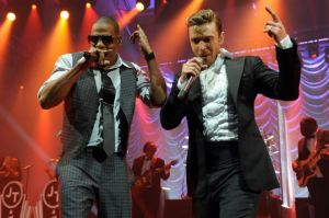 Jay-Z and Justin Timberlake @ BC Place