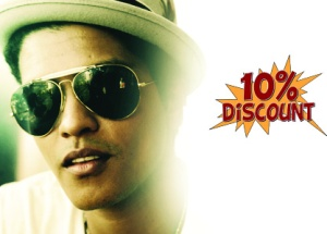 Save 10% on all Bruno Mars Tickets. Promo Code: Grenade
