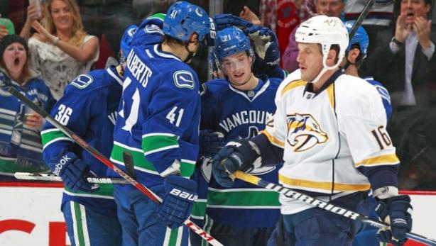 Vancouver Canucks Win Against Nashville Predators 7-4