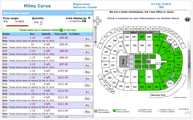 Miley Cyrus Pricing